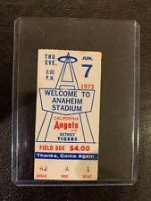 Anaheim Angels Ticket Stub June 7 1973