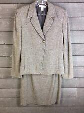 Anne Klein 513 Brown Textured Skirt Blazer Women's 10