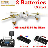 Hubsan H501S PRO X4 FPV Drone 5.8G Brushless 1080P RTH GPS RC Quadcopter RTF USA