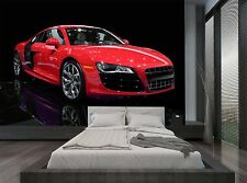 Red Black Isolated Racing Sport Car Wall Mural Photo Wallpaper GIANT WALL DECOR