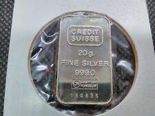 20 Gramm Schweiz Silberbarren Sammlung Auflösung