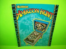 Gottlieb AMAZON HUNT Original 1983 Flipper Game Pinball Machine Promo Sale Flyer