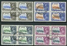 Gibraltar 1935 Silver Jubilee SG114/7 Fine Used BLOCKS OF 4