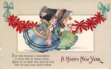 Twelvetrees New Year~Lil Sunbonnet Girls~Fur Stoles~Gifts~Poinsettia Garland~GEL