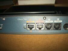 Used As Is Cisco 766 Router working pulled unit+Docs,Ac adapter,Cable 700 series