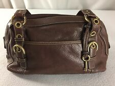 Fossil Brown Leather Shoulder Satchel Hobo Bag Purse ZB2079