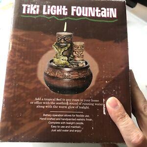 "Tiki Tea Light Water Fountain 6"" Battery Operated Centerpiece Decor"