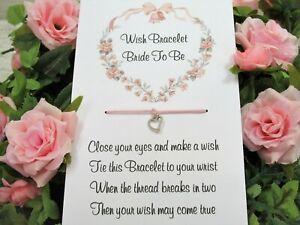 Hen Party Wish Bracelet Wedding Favour Gift Bride To Be Bridesmaid Team Hen *