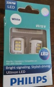 Philips Ultinon LED 2357 White Exterior Car Light, 2 pc. 2357W LED