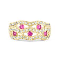 Ringe mit Edelsteinen im Cluster-Stil für die Verlobung runde