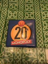 McDonalds Monopoly Giveaway 20th Anniversary Crew Pin 2012 FREE SHIPPING