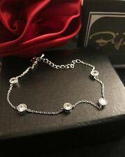 5 TCW Moissanite 925 Sterling Silver Adjustable Chain Bezel Set Tennis Bracelet