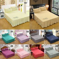 New Bed Skirt Fitted Sheet Bedspread Dust Ruffle Drop Cover Twin Full Queen King