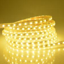 1M-100M Waterproof SMD 5050 LED Strip 220V 60leds/m Flexible tape rope Light