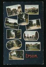 Epsom Posted Single Printed Collectable English Postcards