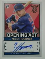 2020 Topps Big League Opening Act Nico Hoerner Chicago Cubs Auto RC