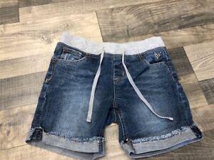 Justice Denim Shorts with Knit Waist 14 Slim  EUC