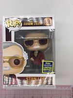 Funko Pop Iron Man #656 Stan Lee 2020 Summer Convention Exc NOT MINT BOX L01