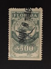 Florida State Revenue - Documentary Tax #D19 - $5.00, gray-green, used - FL