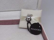"New w/Box Pandora Christmas Polar Bear "" Santa Stops Here ""Charm 796466EN39"