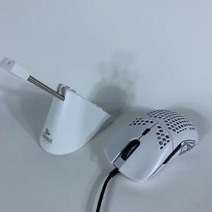 Glorious Model O Wired PC Gaming Mouse & Glorious Mouse Bungee - White