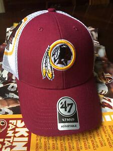 Washington Redskins NFL '47 MVP Trucker Mesh Hat Cap Football Team DC Snapback