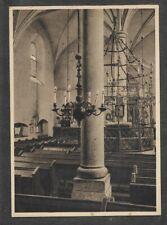 Judaica Old Rare Postcard Jewish Synagogue Krakow Poland Interior