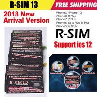 R-SIM 13 For iPhone XR/XS/X/8/8p/7/7p/6/6sp 4G R-sim Nano Unlock Card Ios 11 12