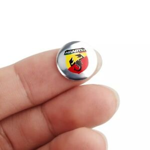 X2 Remote Key Emblem Logo Sticker for Abarth 500 124 Car Fiat Decal Accessories