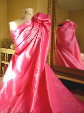 REMNANT 2.20m x 1.40m PINK Crinkle TAFFETA Best Designer Quality FABRIC Dress