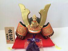 Japanese Tradiotional Ceramics Armor SAMURAI BUSHI Helmet KABUTO from JAPAN