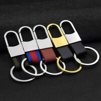 5 colors Classic Style Men leather car metal key chain key rings  High Quality