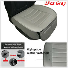 Grey PU Leather Driver Front Cushion Seat Cover W/Storage Bag For Car SUV Truck
