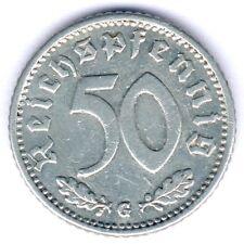 III. Reich 50 Reichspfennig 1935 G. (Alu.) Jaeger 368, ss/vz