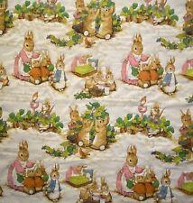Vintage Handmade Beatrix Potter The Tale of Peter Rabbit Baby Blanket Quilt