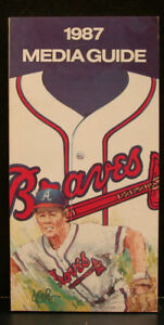 1987 Atlanta Braves Official Media Press Guide, 216 Pages of Facts & Fun!