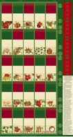 "Christmas Advent Calendar Quilting Treasures 100% Cotton Fabric Panel 23"" X 43"""