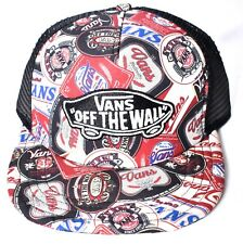 b72c0827ed9 VANS off The Wall Classic Patch Checker Labels Trucker Hat Red Black Cap