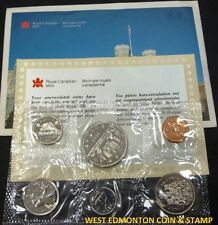 1987 UNCIRCULATED PROOF LIKE SET - CANADIAN 6-COIN SET - ENVELOPE & CERTIFICATE