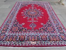 Old Hand Made Traditional Persian Rug Oriental Wool Red Large Carpet 349x246cm
