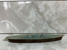 Vintage Plastic Blue Green And Brown Toy Navy Aircraft Carrier