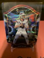 2020 Panini Select Football Josh Allen Concourse Tri Color Die Cut #22 Bills