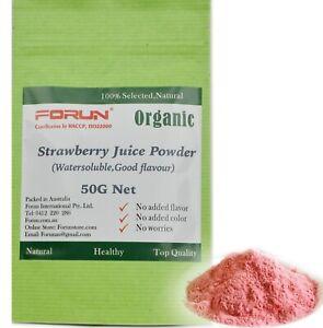 FORUN Premium Strawberry Powder - Water Soluble, Fresh Pink colour, Free Post