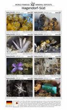 More details for maldives minerals stamps 2020 mnh hagendorf-sud world famous deposits 8v m/s