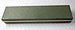 Russel Creations 14 KT Gold Genuine Stone Green Display Empty Jewelry Case Box
