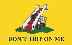 "Anti Joe Biden ""Don't Trip on Me"" Window/Bumper Sticker 5"" x 3"" Sticker"
