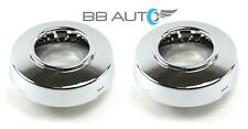 NEW 99-04 FORD F350 SUPER DUTY DUALLY FRONT 4X4 4WD ALLOY WHEEL CENTER CAPS PAIR