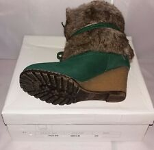 Women's Boots Ankle Boots Winter Boots Green Fur Size 36 35 High Heel