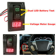 12V Dual LED Battery Test Switch Panel Red LED Voltage Meter Gauge Voltmeter US