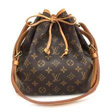 100% Authentic Louis Vuitton Monogram Petit Noe Drawstring Shoulder Bag /107DX